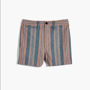 Madewell Emmett Shorts in Rainbow Stripe